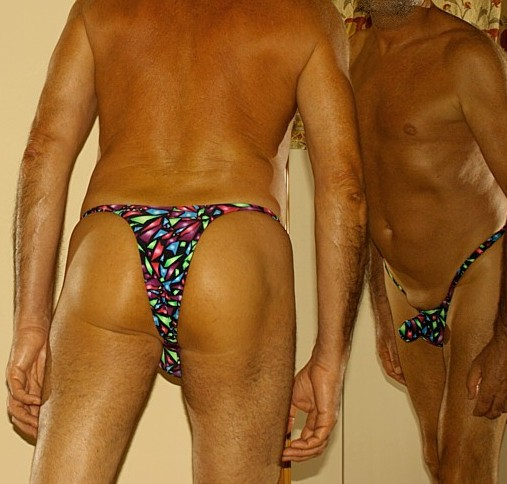 """3"""" Extremely Narrow Back bikini. Missile push out 3D extremely low cut pouch"""