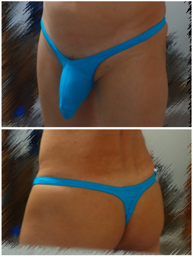 """Missile Push Out 3D Pouch, Color/Print:Turquoise, Cut:Very low cut: 4"""", Strap width:1/2"""" straps, Sizes:Small"""